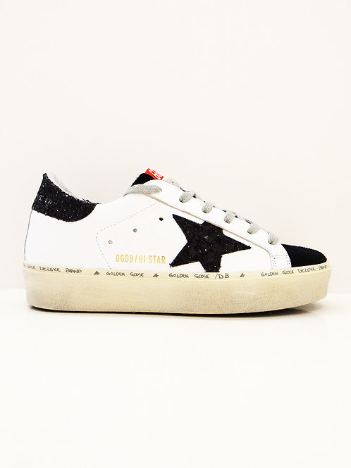 Golden  Goose  Sneakers Hi Star étoile noire pailleté