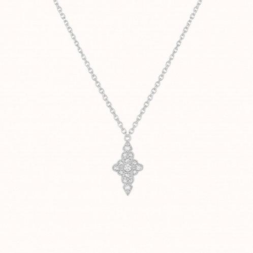 Jade Collier Or Blanc et Diamants STONE PARIS