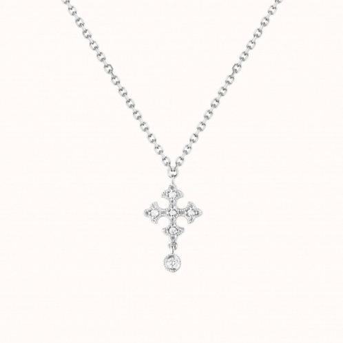 Passion Collier simple Or Blanc et Diamants STONE PARIS