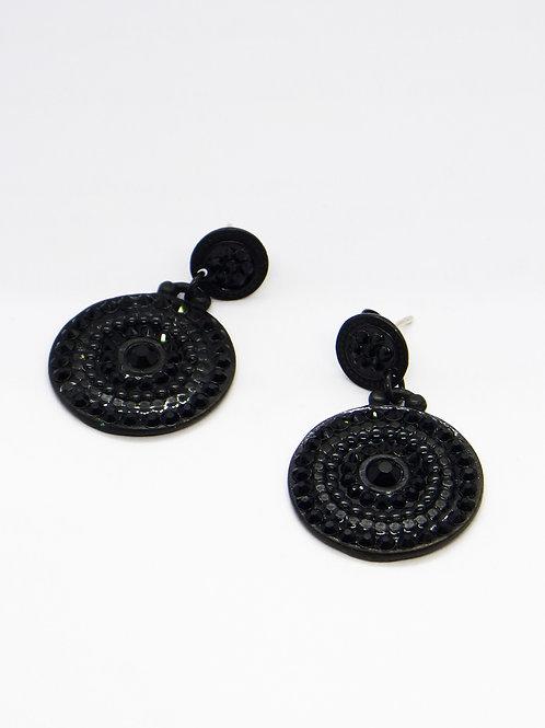 Boucles d'oreilles Stella noir GAS bijoux