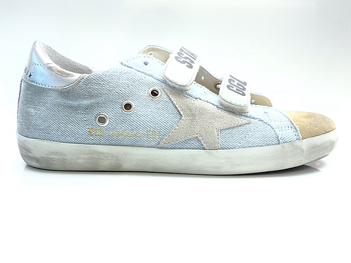 Old School Suede Toe And Star Denim GOLDEN GOOSE