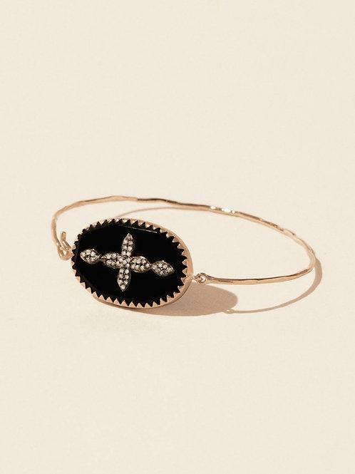 Bracelet Garance Nº2 Noir Diamant PASCALE MONVOISIN