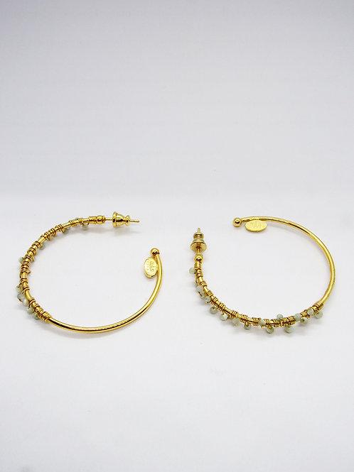 Boucles d'oreilles créoles Calliope Serti or GAS bijoux
