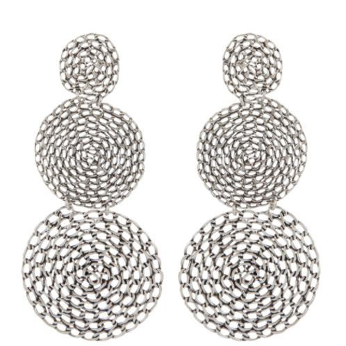Boucles d'oreilles Onde Gourmette double argent GAS bijoux