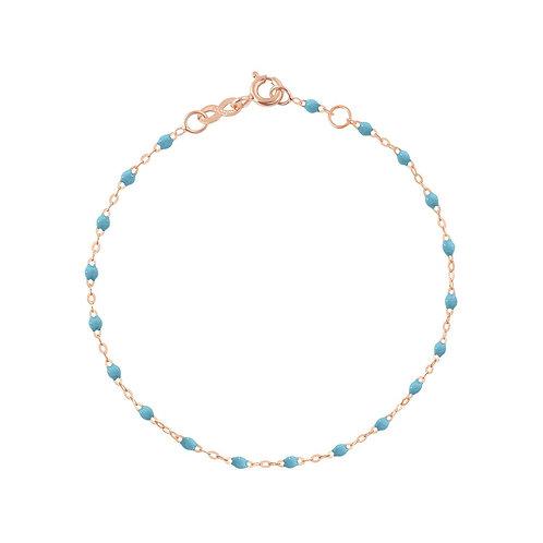 Bracelet turquoise Classique Gigi Clozeau or rose 17 cm