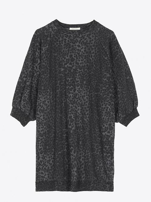Sweat-shirt super Oversize Anthracite Leopard RAGDOLL LA