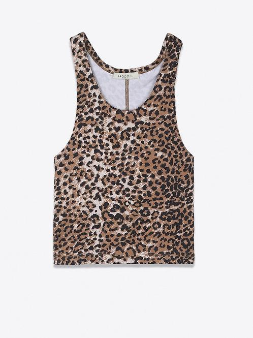 Teeshirt Workout Brown Leopard RAGDOLL LA