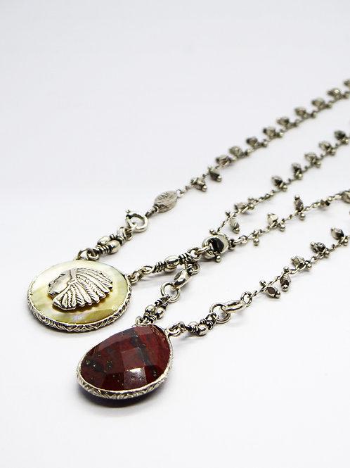 Collier Scapulaire Serti argent GAS bijoux