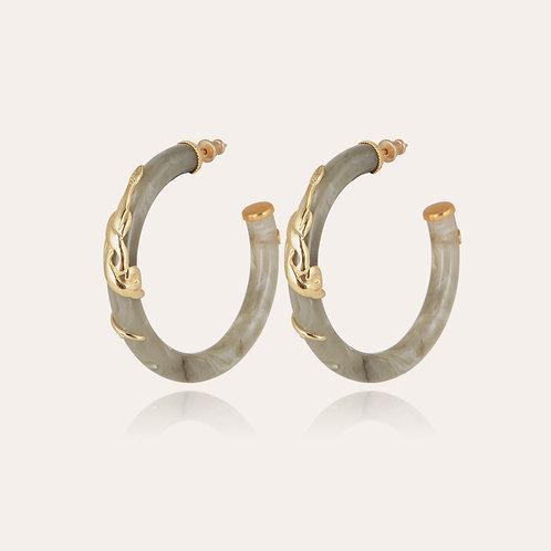 Boucles d'oreilles Cobra acétate or GAS BIJOUX