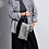 Thumbnail: Pochette Claris Virot Cuir Lou Argent