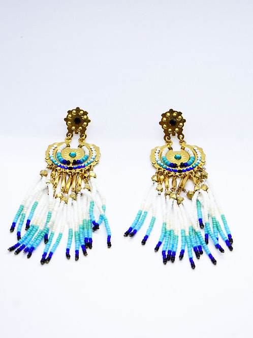 Boucles d'oreilles Apache or GAS bijoux