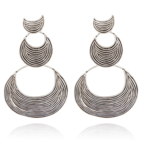 Boucles d'oreilles Luna Wave double argent GAS bijoux