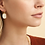 Thumbnail: Boucles d'oreilles Scaramouche nacre or GAS bijoux