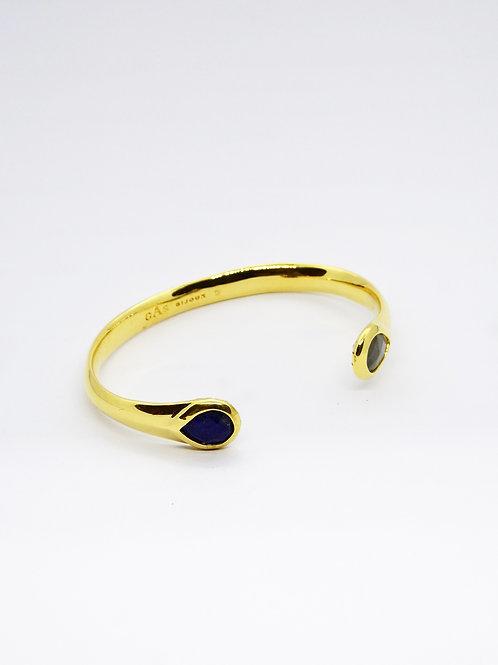 Bracelet Saint Germain or bleu GAS bijoux