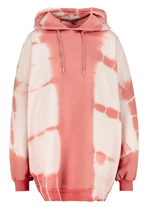 Hoodie Super Oversized pink Tie & Dye RAGDOLL LA