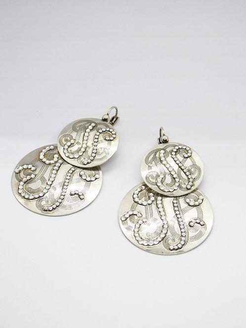 Boucles d'oreilles strass argent GAS bijoux