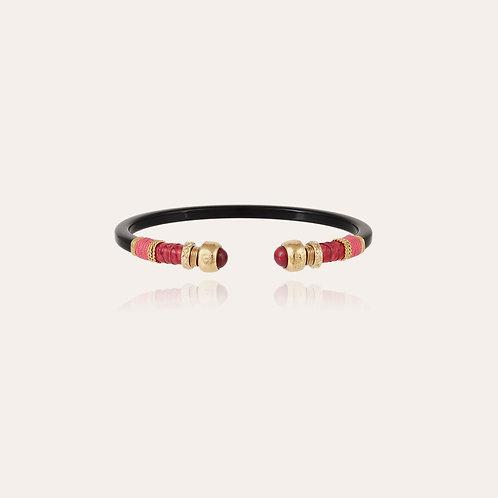 Bracelet Sari Bis acétate or - Noir GAS BIJOUX