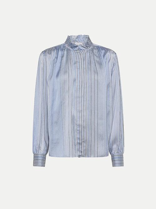 Chemise avec volants à rayure Forte Forte
