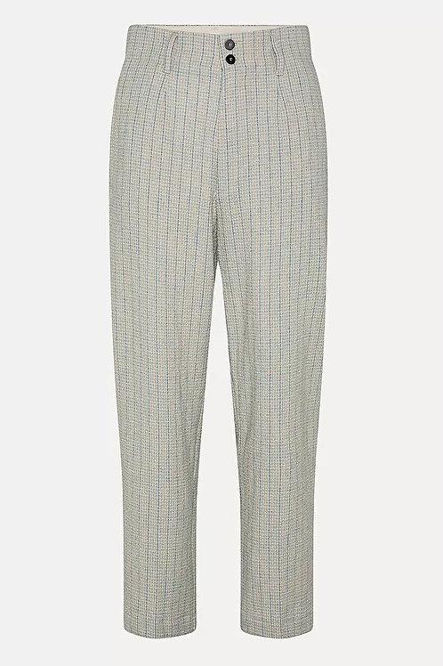 Pantalon à rayures en laine et coton FORTE FORTE