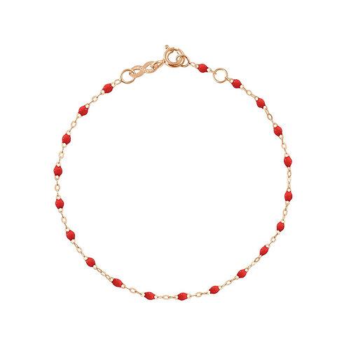 Bracelet coquelicot Classique Gigi Clozeau or rose 17 cm