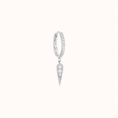 Mini Créole Fleurs du mal Or Blanc et diamants STONE PARIS