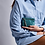 Thumbnail: Porte Monnaie Claris Virot Python Olivia Bleu Canard