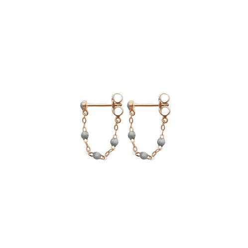 Boucles d'oreilles argent Classique Gigi Clozeau or rose