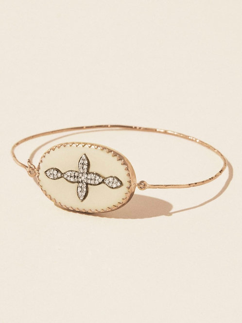 Bracelet Garance Nº2 Blanc Diamant PASCALE MONVOISIN