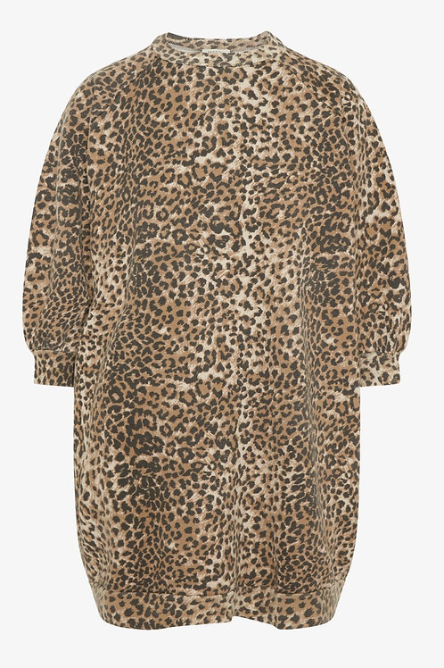 Sweat-shirt super Oversize Brown Leopard RAGDOLL LA