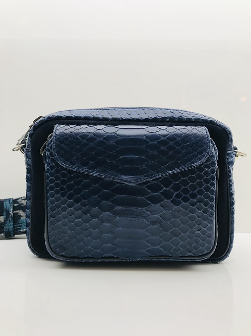 Sac Big Charly Python Blue Cobalt CLARIS VIROT