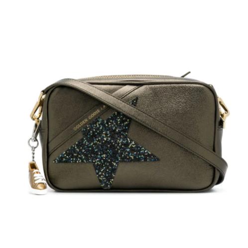 Golden Goose  Sac Star Bag bronze cuir lamé étoile Swarovski