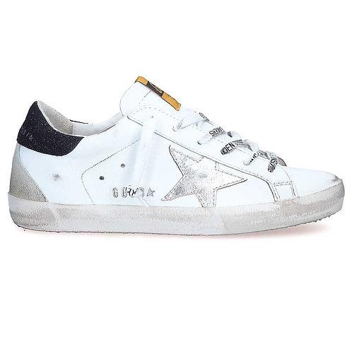 Golden Goose Sneakers Superstar étoile argent contrefort noir lacets lettres