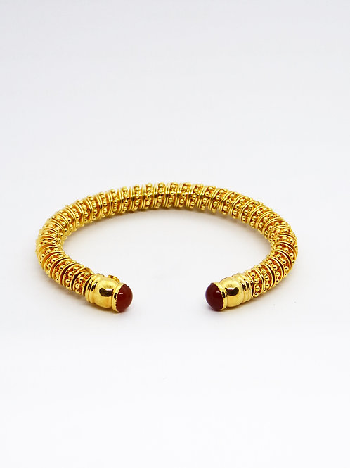 Bracelet Petra cabochons or GAS bijoux