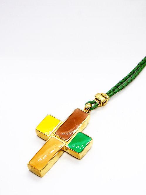 Collier croix or GAS bijoux