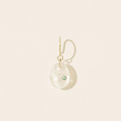 Cauri N.2 Moonstone single earring Pascale Monvoisin