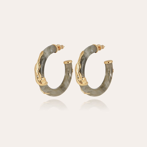 Boucles d'oreilles Cobra mini acétate or GAS BIJOUX