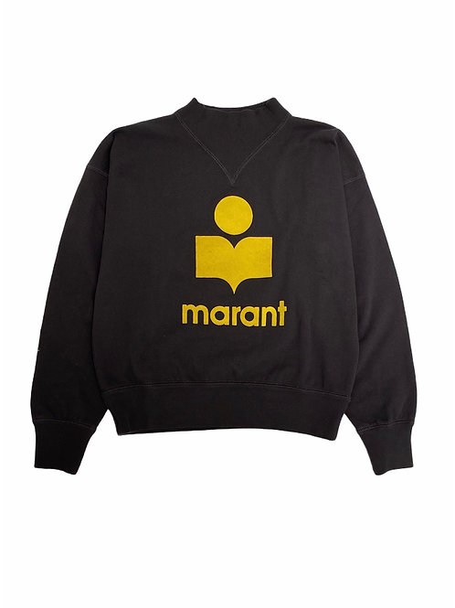 Sweat Moby Yellow Faded  Black ISABEL MARANT ÉTOILE
