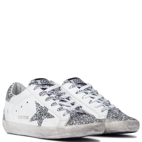 Golden Goose Superstar paillettes silver