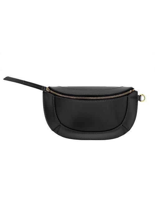 Mini Pochette Bossey Bandoulière Cuir Noir ISABEL MARANT