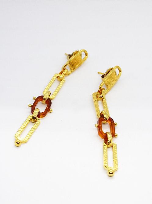 Boucles d'oreilles Escaleacétate or GAS bijoux