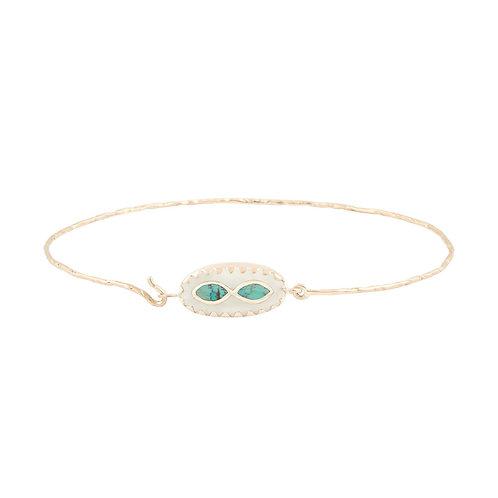 Bowie White Turquoise bracelet Pascale Monvoisin