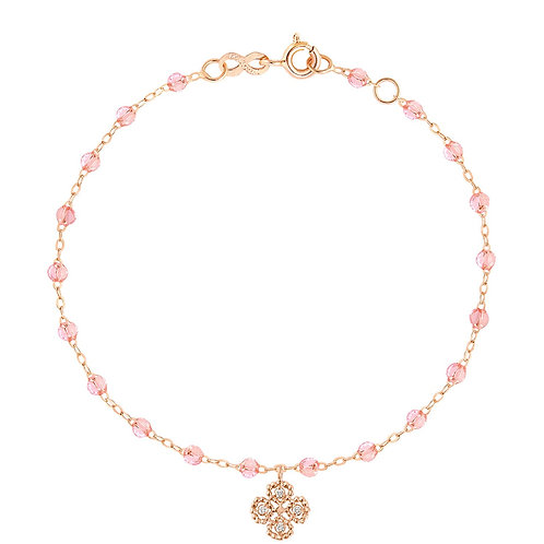 Bracelet or rose trèfle et diamant rosée Gigi Clozeau