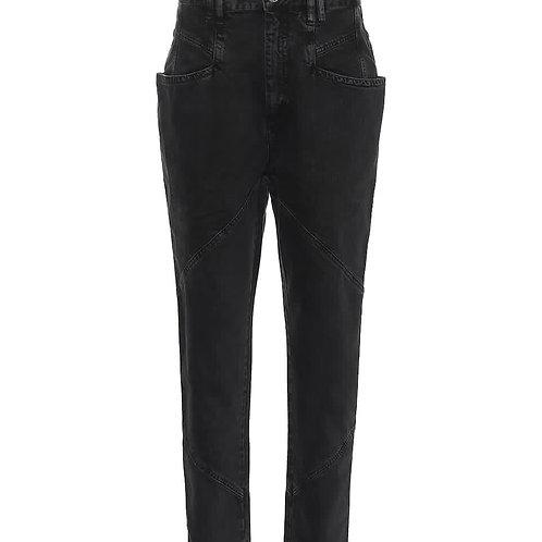 Pantalon Nadeloisa noir délavé Isabel Marant