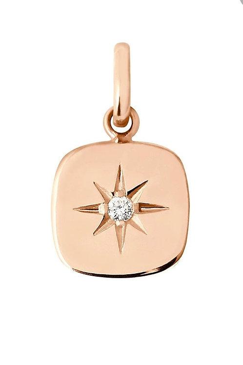Pendentif Miss Gigi Clozeau diamant or rose