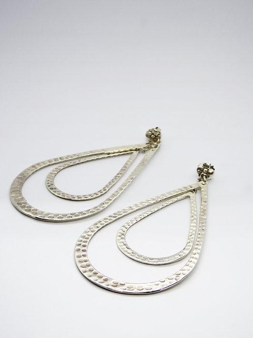 Boucles d'oreilles Bibi doubles argent GAS bijoux