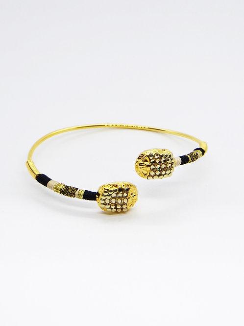 Bracelet Duality scarabée strass GAS bijoux