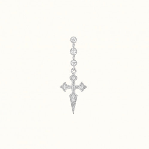 Blood Diamants Boucle d'oreille Or Blanc et Diamants STONE PARIS