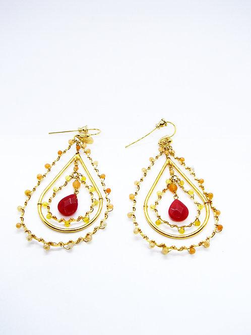 Boucles d'oreilles Orphée or GAS bijoux