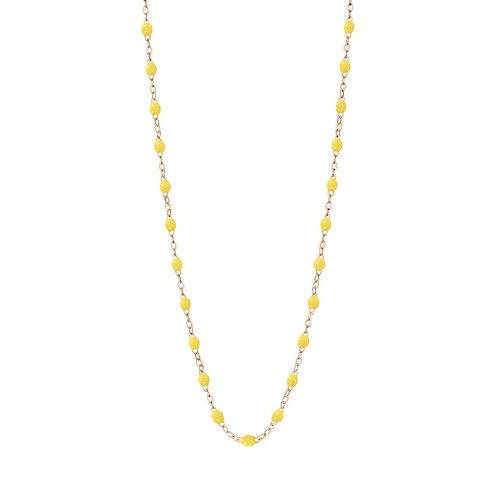 Collier Classique jaune citron Gigi Clozeau