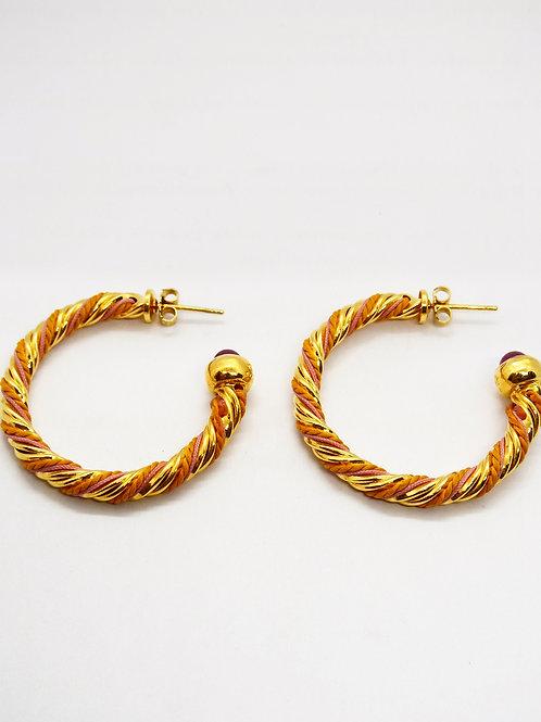 Boucles d'oreilles créoles Torride or GAS bijoux